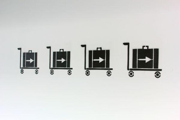 Flughafen Gepäckwagen