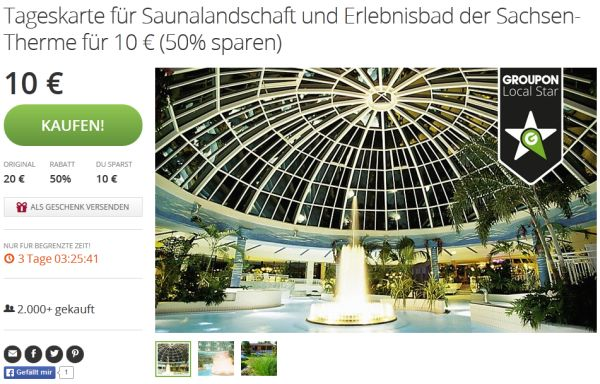 Tagesticket Sachsen Therme